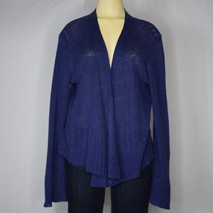 Eileen Fisher | Blue Knit Long Sleeved Cardigan  M